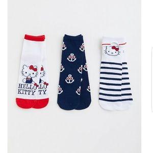 NWT Torrid Hello Kitty 3pc Anklet Socks